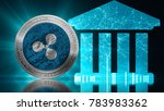 xrp ripple coin secure global... | Shutterstock . vector #783983362
