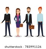 business people group avatars... | Shutterstock .eps vector #783991126