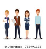 business people group avatars... | Shutterstock .eps vector #783991138