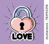 Heart In Padlock Shape To Love...