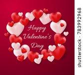 valentine's day background | Shutterstock .eps vector #783992968