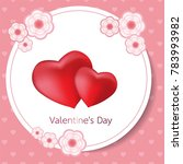 happy valentines day card....   Shutterstock .eps vector #783993982