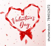 valentine's day greeting card | Shutterstock .eps vector #784012672