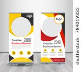 business roll up. standee... | Shutterstock .eps vector #784019332