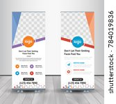 colorful roll up business... | Shutterstock .eps vector #784019836