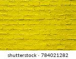 Abstract Yellow Brick Wall...