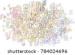 abstract alphabets letters...   Shutterstock .eps vector #784024696