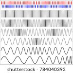 waveform modulation  frequency... | Shutterstock .eps vector #784040392