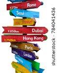 wooden signpost indicating... | Shutterstock . vector #784041436