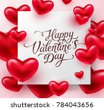 heart valentines red balloon... | Shutterstock .eps vector #784043656