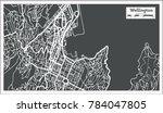 wellington new zealand city map ... | Shutterstock .eps vector #784047805