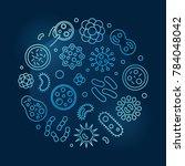 viruses and pathogens vector... | Shutterstock .eps vector #784048042