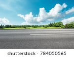 country asphalt road and green...   Shutterstock . vector #784050565
