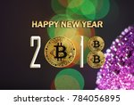 bitcoin design of the new 2018... | Shutterstock . vector #784056895
