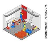 builder people isometric... | Shutterstock . vector #784057975