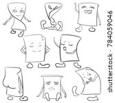 stickers  emotions  rage  joy ...   Shutterstock . vector #784059046
