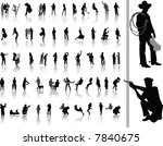 people. vector silhouettes for... | Shutterstock .eps vector #7840675
