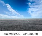 asphalt road and blue sky with...   Shutterstock . vector #784080328