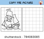 pirate ship. copy the picture.... | Shutterstock .eps vector #784083085