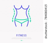 Weight Loss Thin Line Icon....