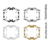 classical baroque vector set of ... | Shutterstock .eps vector #784094806