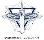 illustration of gothic style... | Shutterstock .eps vector #784107775