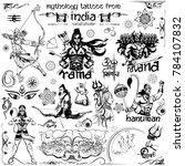illustration of tattoo art... | Shutterstock .eps vector #784107832