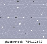 geometric grid with intricate... | Shutterstock .eps vector #784112692