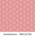 geometric grid with intricate... | Shutterstock .eps vector #784112746