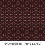 geometric grid with intricate... | Shutterstock .eps vector #784112752