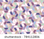 geometric grid with intricate... | Shutterstock .eps vector #784112806