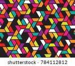geometric grid with intricate... | Shutterstock .eps vector #784112812