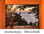 beautiful tropical island... | Shutterstock . vector #784114528