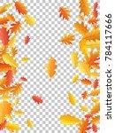 oak leaf vector frame or border ... | Shutterstock .eps vector #784117666