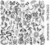 illustration of tattoo art... | Shutterstock .eps vector #784128622
