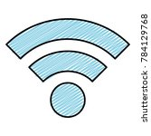wifi signal isolated icon | Shutterstock .eps vector #784129768