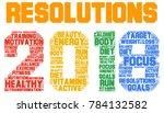 resolutions 2018 health word... | Shutterstock . vector #784132582