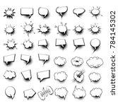 36 big set picture blank...   Shutterstock .eps vector #784145302