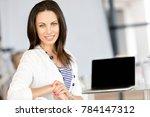 happy entrepreneur or... | Shutterstock . vector #784147312