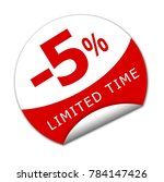 five percent for limited time... | Shutterstock . vector #784147426