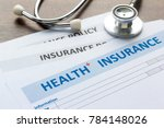 health insurance form with... | Shutterstock . vector #784148026