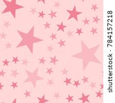 pink stars seamless pattern on... | Shutterstock .eps vector #784157218