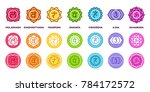 chakra system icon set in... | Shutterstock . vector #784172572