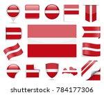 latvia flag set   vector... | Shutterstock .eps vector #784177306