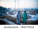 people in gas masks | Shutterstock . vector #784179316