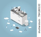 detailed isometric ... | Shutterstock .eps vector #784180132