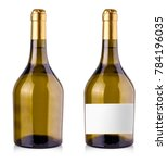 Bottle White Wine Isolated Reflective - Fine Art prints