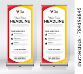 roll up banner design template  ... | Shutterstock .eps vector #784196845
