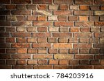 brick wall with vignette as a...   Shutterstock . vector #784203916
