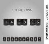 countdown timer realistic black ...   Shutterstock .eps vector #784207186
